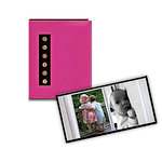 Pioneer - 36 4x6 Inch Photo Pockets - Brag Metal Button Sewn Album - Pink