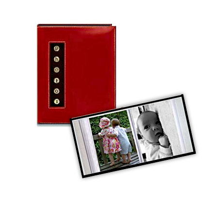 Pioneer - 36 4x6 Inch Photo Pockets - Brag Metal Button Sewn Album - Red