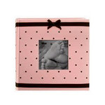Pioneer - 2 Up Album - 200 4x6 Inch Photo Pockets - Embroidered Fabric Frame - Baby - Pink