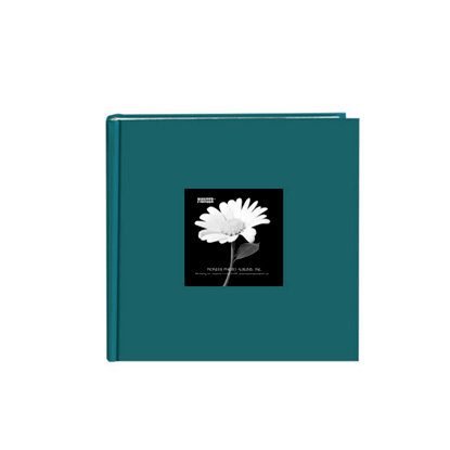 Pioneer - 2 Up Album - 200 4x6 Inch Photo Pockets - Natural Color Fabric Frame - Majestic Teal