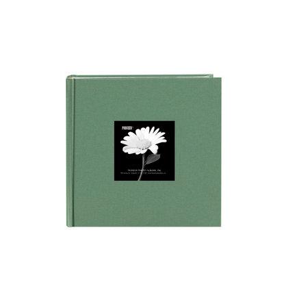 Pioneer - 2 Up Album - 200 4x6 Inch Photo Pockets - Natural Color Fabric Frame - Tranquil Aqua