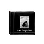 Pioneer - 2 Up Album - 200 4x6 Inch Photo Pockets - Sewn Leatherette Frame - Live Laugh Love