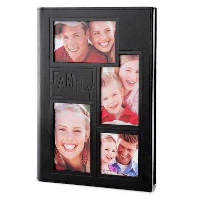 Pioneer - 3 Up Album - 300 4x6 Inch Photo Pockets - Sewn Embossed Leatherette Frame - Family - Black