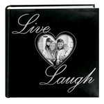 Pioneer - 2 Up Album - 200 4x6 Inch Photo Pockets - Live Love Laugh with Heart Window