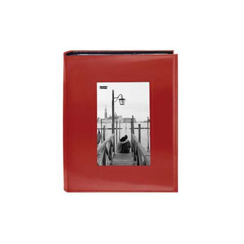 Pioneer - 2 Up Album - 200 4x6 Photo Pockets - Embossed Leatherette Frame - Red