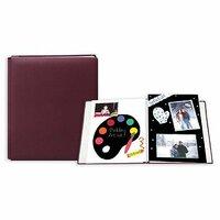Pioneer - 12 x 15 Postbound Album - Fabric - Burgundy
