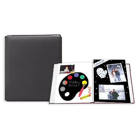 Pioneer - 12x15 Postbound Album - Fabric - Ebony Black