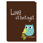 Pioneer - 36 4x6 Inch Photo Pockets - Poly Photo Album - Baby Owl - Blue