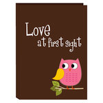 Pioneer - 36 4 x 6 Inch Photo Pockets - Poly Photo Album - Baby Owl - Pink