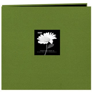 Pioneer - EZ Load Memory Album - 12 x 12 - 20 Top Loading Pages - Natural Color Fabric Frame - Herbal Green