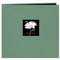 Pioneer - EZ Load Memory Album - 12 x 12 - 20 Top Loading Pages - Natural Color Fabric Frame - Tranquil Aqua