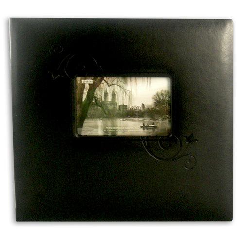 Pioneer - EZ Load Memory Album - 12 x 12 - 20 Top Loading Pages - Embossed Leatherette Frame - Black Floral