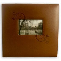 Pioneer - EZ Load Memory Album - 12 x 12 - 20 Top Loading Pages - Embossed Leatherette Frame - Brown Floral