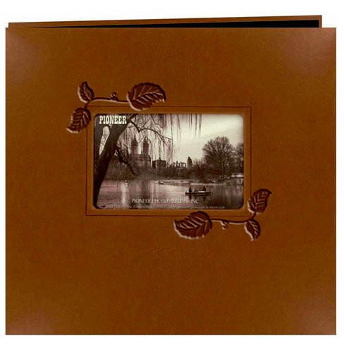 Pioneer EZ Load Memory Album 12 x 12 20 Top Loading Leatherette Frame Brown Ivy