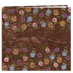 Pioneer - EZ Load Memory Album - 12 x 12 - 20 Top Loading Pages - En Vogue Designer - Aged Floral