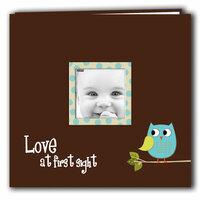 Pioneer - EZ Load Memory Album - 12 x 12 - 10 Top Loading Pages - Printed Designer Frame - Baby Owl - Blue