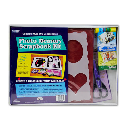 Pioneer - 12 x 12 Photo Memory Scrapbook Kit - Burgundy