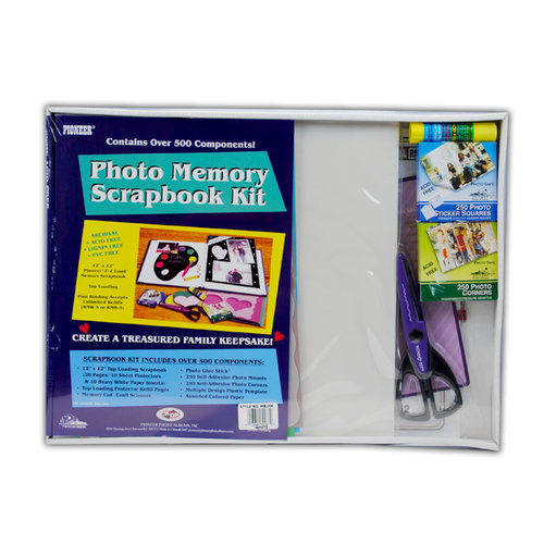 Pioneer - 12 x 12 Photo Memory Scrapbook Kit - White