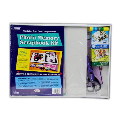 Pioneer - 12 x 12 Photo Memory Scrapbook Kit - White