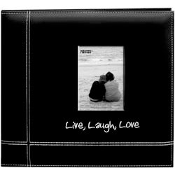 Pioneer - EZ Load Memory Album - 12 x 12 - 20 Top Loading Pages - Embroidered Leatherette - Live Laugh Love