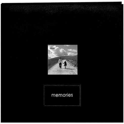 Pioneer - EZ Load Memory Album - 12 x 12 - 20 Top Loading Pages - Faux Suede - Memories Embroidered Patch - Black