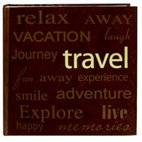 Pioneer - EZ Load Memory Album - 12 x 12 - 20 Top Loading Pages - Text Sewn Faux Suede - Travel