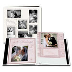 Pioneer - EZ Load Memory Album - 12 x 12 - 20 Top Loading Pages - Embossed Sewn Leatherette Collage Frame - Wedding - White