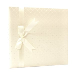 Pioneer - 12 x 12 Memory Book - Diamond Fabric Cover - Ivory