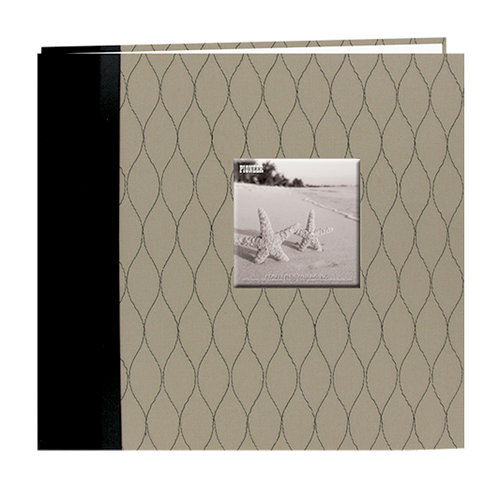 Pioneer - Deluxe EZ Load Memory Book - 12 x 12 - 20 Top Loading Pages - Black and Tan