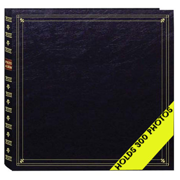 Pioneer - Le Memo Photo Album - 300 4x6 Inch Photo Pockets -  Black