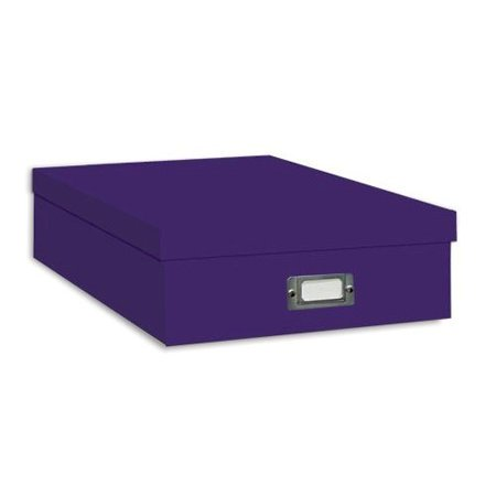 "Pioneer - 12"" x 12"" Scrapbooking Storage Box - Bright Purple"