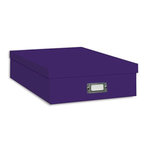 "Pioneer - 12"" x 12"" Scrapbooking Storage Box - Bright Purple"