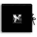 Pioneer - 12 x 12 Sewn Scrapbook Box - Stitched - Black
