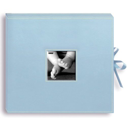 Pioneer - 12 x 12 Sewn Scrapbook Box - Stitched - Baby Blue
