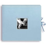 Pioneer - 12x12 Sewn Scrapbook Box - Stitched - Baby Blue