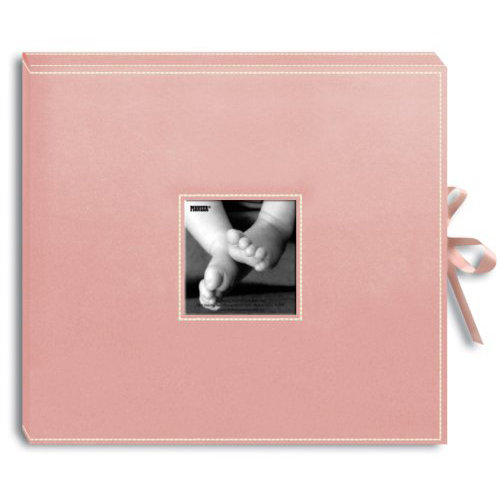 Pioneer - 12x12 Sewn Scrapbook Box - Stitched - Baby Pink