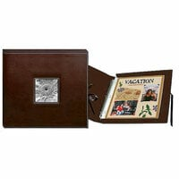 Pioneer - 12 x 12 Sewn Scrapbook Box - Stitched - Brown