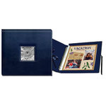 Pioneer - 12 x 12 Sewn Scrapbook Box - Stitched - Navy Blue