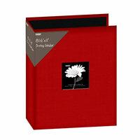Pioneer - 3 Ring Binder - 8.5 x 11 - Cloth Scrapbook - Red