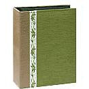 Pioneer - Tone Fabric Sewn Album - Hold 208 4x6 Inch Photos - Green - 2 Up Album