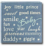 Pioneer - 2 Up Album - 200 4x6 Inch Photo Pockets - Text Sewn Faux Suede - Baby - Blue