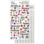 Paper Accents - Stickers - Calendar - Months and Numbers - Medium