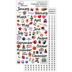 Paper Accents - Stickers - Calendar - Months and Numbers - Large
