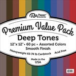 Paper Accents - 12 x 12 Cardstock Pack - Smooth - Deep Tones