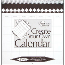 Paper Accents - Create Your Own Calendar - 12 x 12 - 14 Month