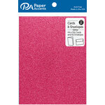 Paper Accents - Cards and Envelopes with Glitter Accents - 4.2 x 5.5 - Rose
