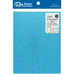 Paper Accents - Cards and Envelopes with Glitter Accents - 4.2 x 5.5 - Ocean Blue