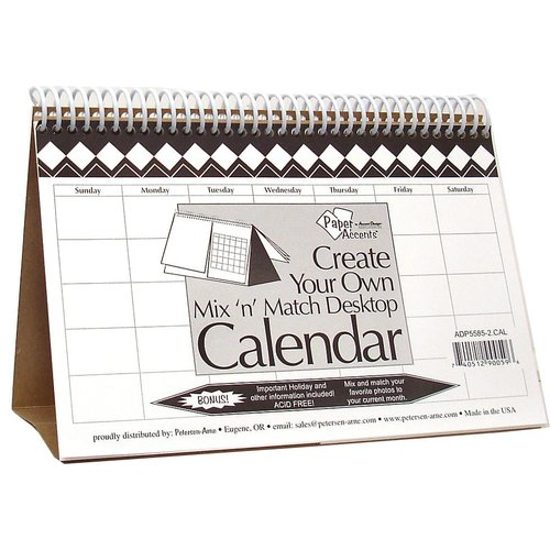 Paper Accents - Create Your Own Calendar - 5.5 x 8.5 - Desktop - Mix n Match - White