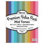 Paper Accents - 8.5 x 11 Cardstock Pack - Textured - Mid Tones