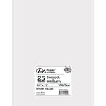 Paper Accents - Smooth Vellum - 8.5 x 11 - White Ink Jet - 30lb - 25 Pack
